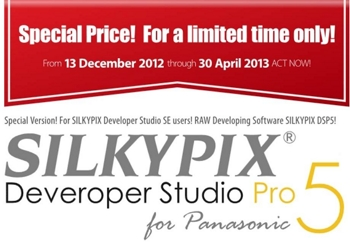 Silkypix Developer Studio Pro 5 - Promo Panasonic